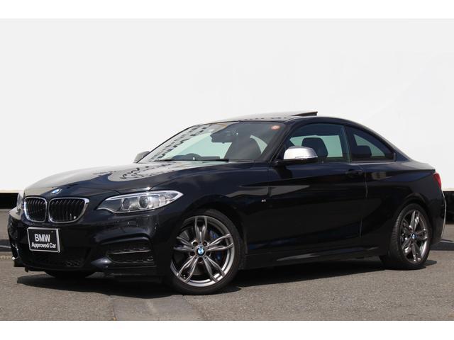 BMW M235iクーペ 黒革 ガラスSR 純正18AW キセノン