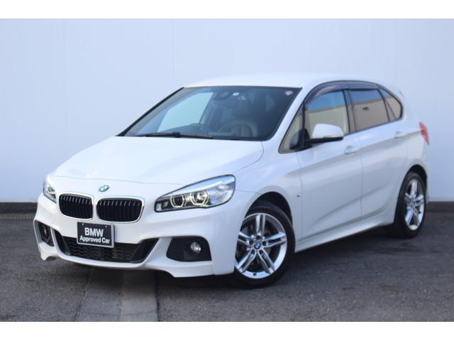 BMW 218dアクティブツアラー Mスポーツ ブラックレザー・Fシートヒーター・リヤカメラ・リヤPDC・純正ETCミラー・純正17インチAW