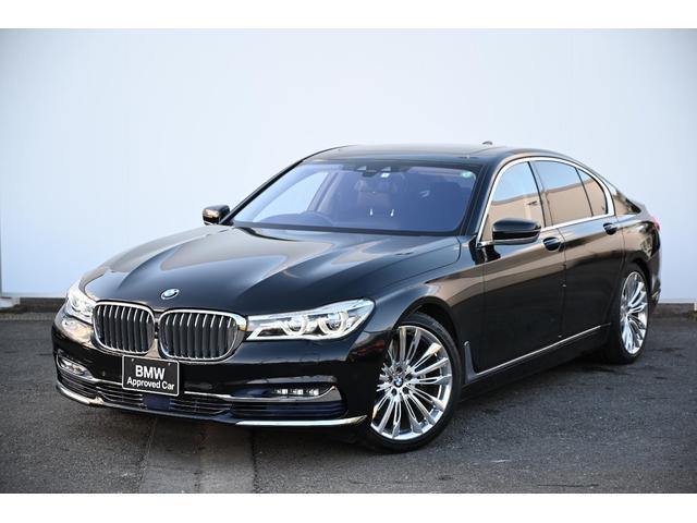 BMW 740i ブラックレザーFコンフォートシート・ソフトクローズドア・ガラスサンルーフ・BMWレーザーライト・harman kardonサウンドシステム・HUD・純正19AW