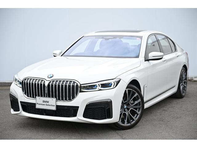 BMW 740i Mスポーツ 元弊社社用車・黒革・Fコンフォートシート・前後シートヒーター・ソフトクローズドア・ガラスサンルーフ・harman kardon・HUD・純正20AW