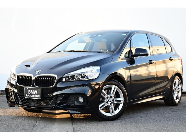BMW 218iアクティブツアラー Mスポーツ I-driveナビ・被害軽減ブレーキ・車線逸脱警告・LEDライト・フォグライト・純正ETCミラー・純正16AW