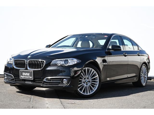 BMW 523iラグジュアリー ベージュレザー・Fシートヒーター・被害軽減ブレーキ・車線逸脱警告・ACC・リヤカメラ・前後PDC・純正TV・HIFIスピーカー・社外ドラレコ・純正18AW