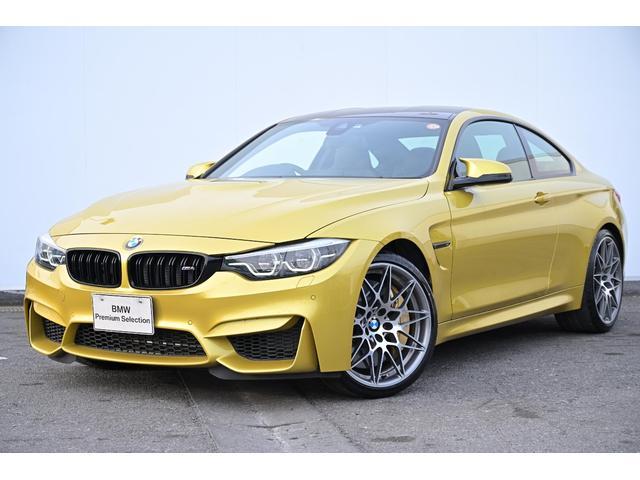 BMW M4クーペ コンペティション ブラックレザー・前シートヒーター・アダプティブLED・アダプティブMサス・レーンチェンジワーニング・オートクルーズ・TV・HUD・harmankardon・カーボンセラミックブレーキ・純正20AW