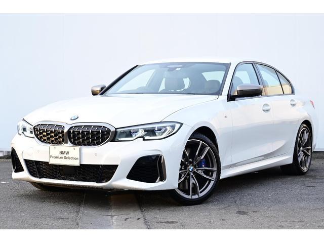 BMW 3シリーズ M340i xDrive ブラックレザー・Mスポーツブレーキ・Mデフ・アダプティブMサス・Fシートヒーター・HUD・BMWレーザーライト・harman kardon・ジェスチャーコントロール・地デジTV・純正19AW