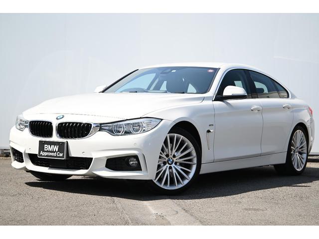 BMW 435iグランクーペ ラグジュアリー ワンオーナー・黒革・Fシートヒーター・スポーツAT・オートトランク・リヤカメラ・前後PDC・アダプティブLEDライト・Dアシスト・ACC・純正TV・HUD・HIFIスピーカー・FバンパーMスポ用