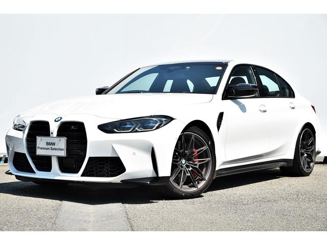 BMW M3 M3セダン コンペティション ブラックレザー・Mデフ/ブレーキ/シートベルト・Fシートヒーター・Dアシストプロ・レーザーライト・HUD・harman kardon・ジェスチャーコントロール・TV・純正19AW