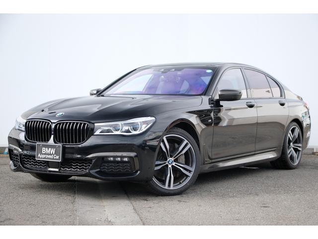 BMW 750i Mスポーツ ワンオーナー・黒革・前後コンフォートシート・エグゼクティブドライブプロ・ソフトクローズドア・ガラスサンルーフ・レーザーライト・HUD・harman kardon・リヤエンターテーメント・純正20AW
