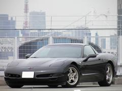 シボレー コルベットZ51 6速マニュアル 左ハンドル ブラックレザーシート