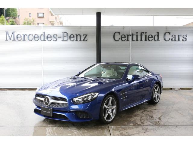 メルセデス・ベンツ SL400 ブリリアントブルー 内装色ポーセレン(白ナッパレザーシート) ダッシュボードクロック レーダーセーフティパッケージ ABCサスペンション 19インチAMG5スポークAW 認定中古車2年保証