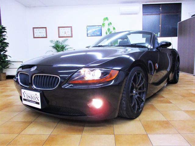 BMW 2.2i電動オープン 黒革 ADVAN18inAW ETC