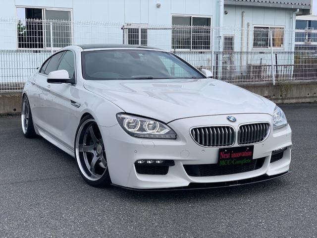 BMW 6シリーズ 650iグランクーペ ADVANRacing 20インチ 車高調 Next innovationフロントフラップ