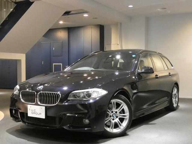 BMW 528iワゴンMスポ 1オナ コンフォA 黒革 2年保証付