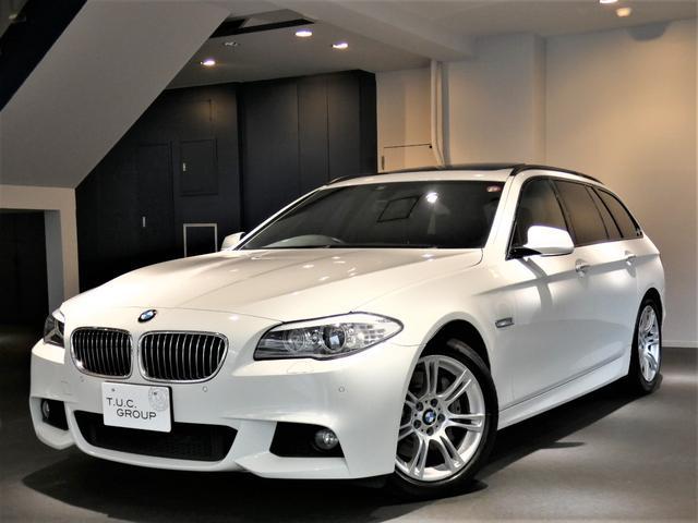 BMW 535iツーリング Mスポーツ 黒革 パノラマSR 2年保証