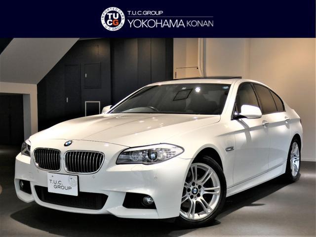 BMW 528i Mスポーツ Pスタ 黒革 SR 直6NA 2年保証