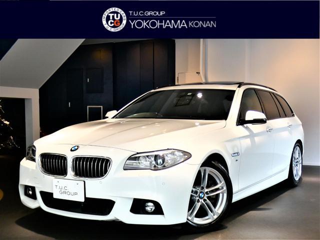 BMW 523dツーリングMスポ ACC 黒革 パノラマSR2年保証