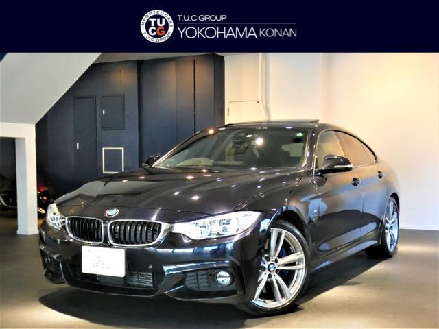 BMW 435iグランクーペ Mスポーツ 1オーナー コンフォA 追ACC レーンCHW 衝突軽減B 黒革 サンルーフ ナビTV Bカメラ 全周囲カメラ 前後センサー ヘッドアップDSP LEDライト 2年保証
