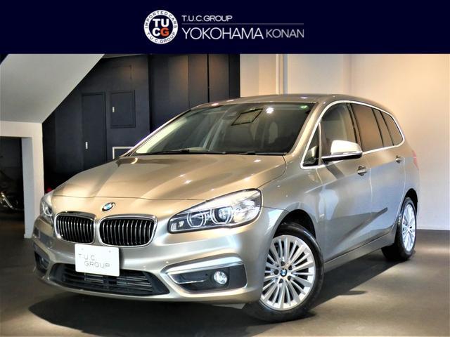 BMW 218iグランツアラー ラグジュアリー レザーPKG 1オーナー コンフォA 追従ACC 衝突軽減B 黒革 ヒーター ナビTV Bカメラ Rセンサー LEDライト ヘッドアップDSP オートテールゲート 2年保証
