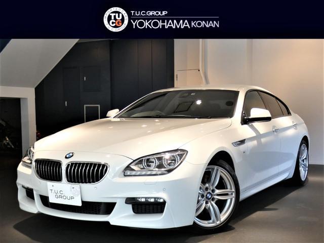 BMW 640iグランクーペ MスポーツPKG コンフォA 衝突軽減B レーンDW 黒革 ナビTV Bカメラ 前後センサー LEDライト 電動リアシェード 2年保証