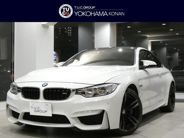 BMW M4 M4クーペ MDCT Mエアロ&19AW カーボンR 衝突軽減B コンフォA ベージュ革 ナビTV Bカメラ 前後センサー LEDライト ヘッドアップDSP 前後ドラレコ 2年保証