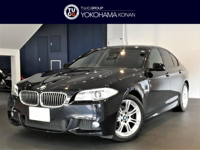 BMW 5シリーズ 528i Mスポーツパッケージ コンフォA Mスポーツエアロ&18AW 黒革 ヒーター サンルーフ ナビTV Bカメラ 前後センサー キセノン iストップ 2年保証