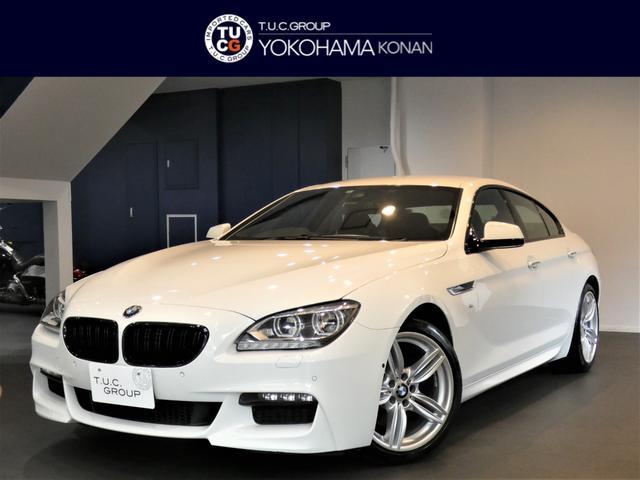 BMW 6シリーズ 640iグランクーペ Mスポーツパッケージ パーキングサポートPKG コンフォA 衝突軽減B レーンDW 黒革 トップ&サイドビューカメラ ナビTV Bカメラ 前後センサー LEDライト 2年保証