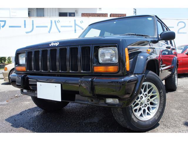 クライスラー・ジープ リミテッド 4WD 黒革シート天張り張替済