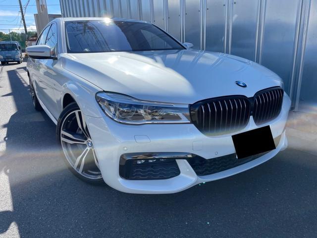 BMW 740i Mスポーツ ヘッドアップディスプレイ フルセグTV  サンルーフ ブラックエアコンシート ソフトクローズドア ステアリングレーンアシストコントロール パワートランク アクティブクルーズコントロール ETC