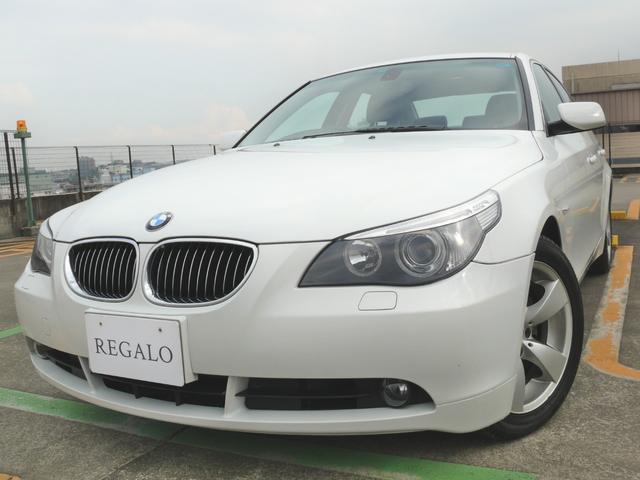 BMW 5シリーズ 525iハイラインHIDナビ禁煙ETC黒革シ...