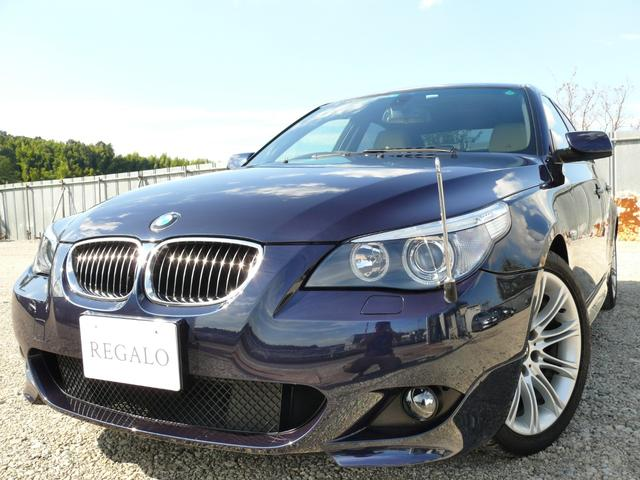 BMW 525i MスポーツPKGベージュレザー純正ナビETC禁煙車