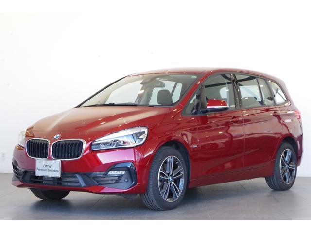 BMW 218dグランツアラー スポーツ コンフォートP 17インチAW リアビューカメラ オートマチックテールゲート 3列シート ETC 前後コーナーセンサー 半革シート