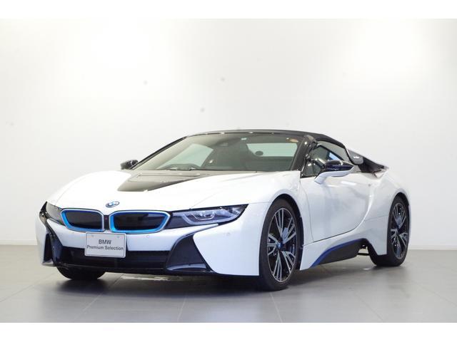 i8(BMW) ロードスター 茶革シート レーザーライト harman/kardon BMWiブルーシートベルト 純正オプション20インチAW HUD シートヒーター ドライビングアシスト ETC 中古車画像
