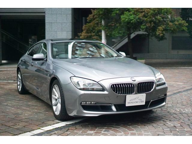 BMW 6シリーズ 640iグランクーペ パノラマルーフ 1オーナー 整備記録8枚 電動リヤサイドシェード バックカメラ 地デジ ホワイトレザーシート シートヒーター LEDヘッドライト クルコン