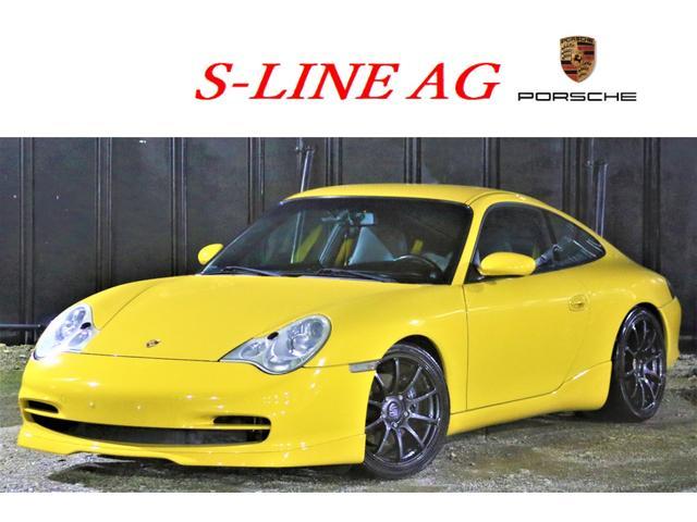 ポルシェ 911 911カレラ 6速MT 記録簿 テックアートエアロ 社外マフラー ダウンサス アドバンレーシングRS18インチアルミ LEDテール HDDナビ バックカメラ ETC