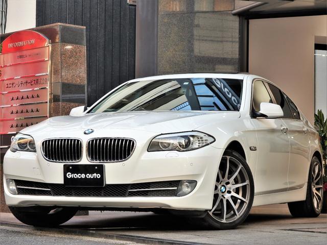 BMW 523i ハイライン 黒革 サンルーフ 社外AW スポイラー