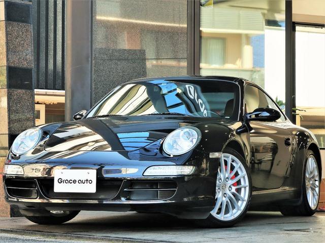 ポルシェ 911カレラS スポクロP OP19AW 赤キャリパー 黒革
