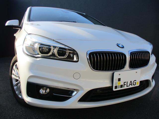 BMW 218iアクティブツアラー ラグジュアリー コンフォートPKG アドバンスドパーキングサポートPKG サドルブラウンダコタレザーシートシートヒーター コンフォートアクセス オートマチックテールゲート ミネラルホワイト 地デジ ドラレコ 禁煙車