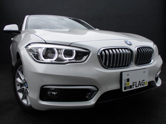 BMW 1シリーズ 118i スタイル ワンオーナー 後期タッチパネルモニター コンフォートP パーキングサポートP コンフォートアクセス ハーフレザーシート シートヒーター ミネラルホワイト バックカメラ GPSレーダー ドラレコ 禁煙車