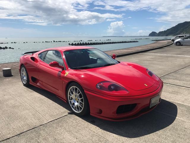 フェラーリ モデナF1 チャレンジグリル HAMANNフルエアロ MSレーシングマフラー チャレンジAW ETC 21500キロ時タイミングベルト ウォーターポンプ等交換 25230キロ時クラッチ F1センサー交換