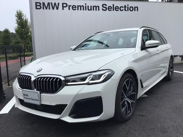 BMW 530iツーリング Mスポーツ 当社試乗車・黒革シート・シートエアコン・シートヒ-タ・パワーシート・黒革シート・純正19インチアルミ・アクティブクルーズコントロール・全周囲カメラ・LEDヘッドライト・電動リヤゲート・ミラーETC