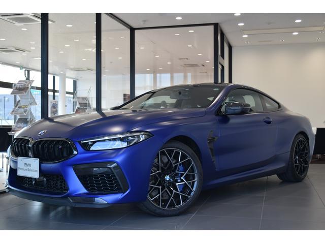 BMW M8クーペ コンペティション 弊社新車顧客様下取車 1オーナー 禁煙車 MカーボンエクステリアPKG Mカーボンエンジンカバー Mエキゾーストシステム インディビカラー フルレザーメリノアルカンタラシート 20インチAW