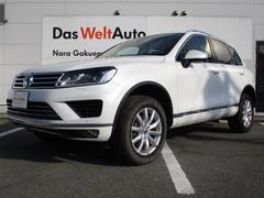 VW トゥアレグV6アップグレードパッケージ ブラウンレザー 認定保証付