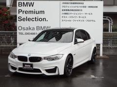 BMWM3 ワンオーナー黒レザー19インチAWHDDナビクルコン