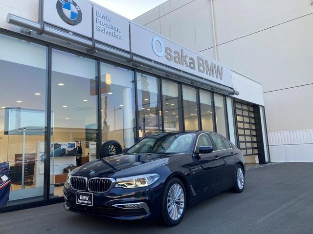 BMW 523d ラグジュアリー 弊社デモカー・ガラスサンルーフ・ヘッドアップディスプレイ・ジェスチャーコントロール・デビューパッケージ・純正HDDナビ・純正地デジ・LEDヘッドライト・アクティブクルーズコントロール