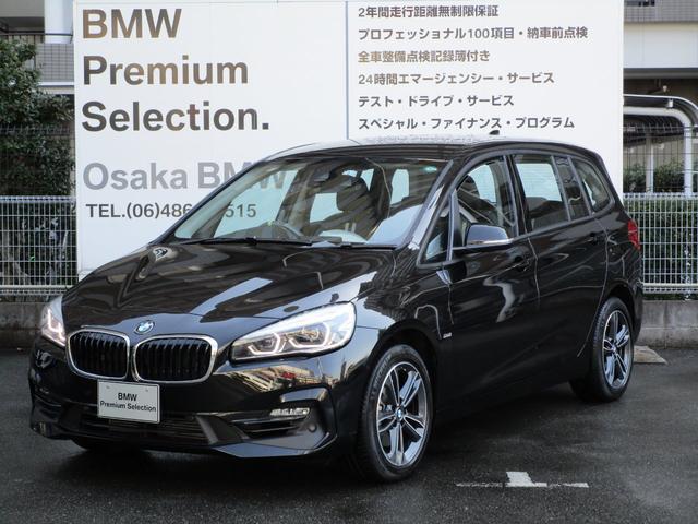 BMW 2シリーズ 218iグランツアラー スポーツ 弊社下取りワンオーナー車 新車保証継承 コンフォートP 電動リアゲート LEDヘッドライト シートヒーター 純正HDDナビ バックカメラ ミラーETC