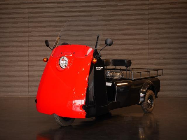 ミツオカ Like-T3 Lプラス 2人乗り電気自動車 OPフェイスカラーレッド フロントスクリーン付き