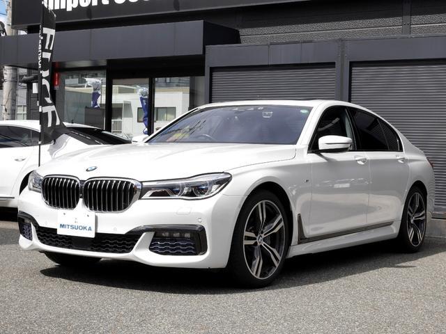 BMW 740d xDrive Mスポーツ リアコンフォートpkg レーザーライト ヘッドアップDISP 電動黒革(ヒータ&クーラ付) 全周囲3Dカメラ 前後ドラレコ ディスプレイキー(リモートパーキング) サンルーフ コンフォートアクセス