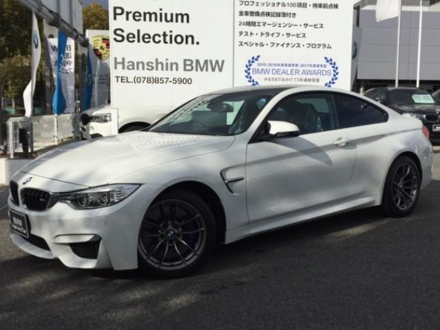 BMW M4クーペブラックレザ-HDDナビBカメラ地デジ1オーナ-
