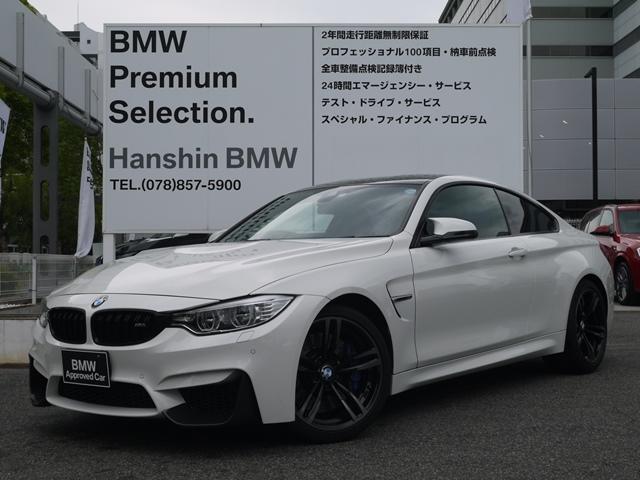 BMW M4クーペ認定保証19AW黒革ワンオーナーフロントリップ