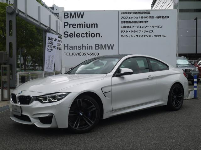 BMW M4クーペ認定保証Pサポート赤レザ-19AWパドルシフト