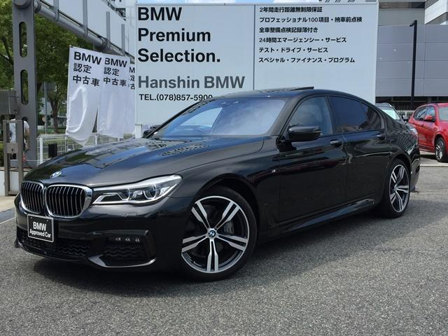 BMW 740iMスポーツ認定保証20インチAW黒革サンルーフLED